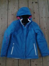 Girls' Dare2b ski waterproof insulated blue coat jacket age 9-10 years