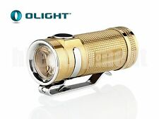 OLIGHT S-Mini BR Cree XM-L2 EDC Neutral White NW LED Flashlight Raw Brass