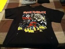 iron maiden the number of the beast  tshirt 1982 original pressing vintage