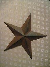 """8"""" Rustic Black Barn Star Metal Primitive"""