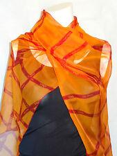 AUTH Hermes 'BOLDUC' (mousseline) Shawl (64cm x 176cm)