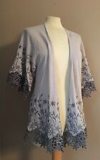 New Anthropologie Heavily Embroidered and Lace Shrug Kimono Cardigan Sweater S