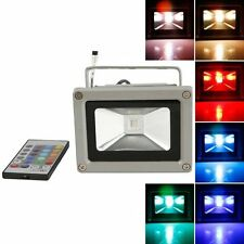 US Remote Control 10W RGB Waterproof LED Flood Light (16 Different Color Tones)