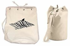 BANKSY BARCODE SHARK DUFFLE BAG College Rucksack Gym Beach Backpack Sports