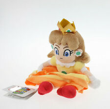 Lovely 7in Princess Daisy Character Figure Soft Doll Toy Super Mario Orange