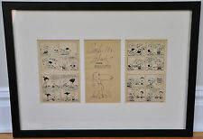 "FRAMED SIGNED ORIGINAL DRAWING OF 'SNOOPY""~BY CHARLES SCHULZ~W. COA/LOA"