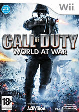 New Sealed Call Of Duty World At War Nintendo Wii PAL Activision Free Postage
