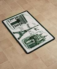Europa Paris Bath Rug Landmark France Eiffel Tower Arc de Triomphe Bath Rug