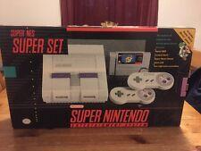 Super Nintendo SNES Super Set Super Mario World  in Box