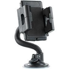 Lescars Kfz-Halterung mit Schwanenhals für Smartphone, Navi und Handy