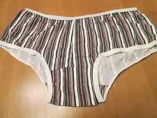 Ladies striped cotton knickers Brand name Imani size 10