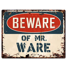 PBMR0667 Beware of MR. WARE Chic Plate Sign Home Decor Funny Gift Ideas