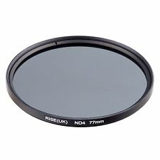 RISE(UK)77mm Neutral Density ND4 filter for Canon Nkion Sony Pentax