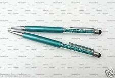 2PCS Peacock green Swarovski Crystal Stylus Touch Capacitive Pen For Phone Pad