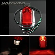 Motorcycle Chrome Red Brake Tail Light Signal Lamp For Harley Davidson