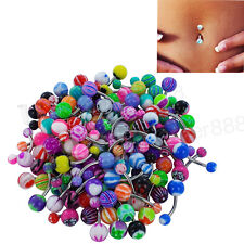 Lot 50 x Belly Button Navel Ring Bar Bars Body Piercing Jewellery Rings Makeup