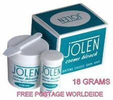 100 % GENUINE Jolen Creme Bleach Lightens Dark Facial Hair Cream 18 gm PACK