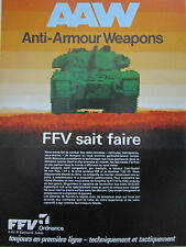 8/86 PUB FFV ORDNANCE SWEDEN AAW ANTI ARMOUR WEAPON CARL GUSTAF AT4 FRENCH AD