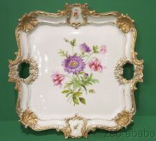 Meissen Vanity Tea Set Tray Floral Gold Accents 16""