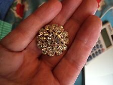 "Beautiful 1"" Rhinestone button for coat or dressy suit - NWOT"