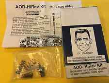 "AOD Transmission Valve Body ""HIREV"" Kit FORD *THROTTLE UPSHIFTS TO 5000 RPM*"