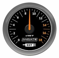 Innovate 3865 MTX Analog Exhaust Gas Temperature (EGT) Gauge Kit, Black Dial
