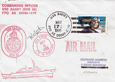 GUIDED MISSILE DESTROYER USS BARRY DDG 52 A SIGNED SHIPS CACHED COVER