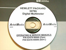 HP 3478A DM OPERATING &  SERVICE MANUALS (2 volumes)