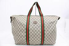 Authentic Gucci Tote Bag  Browns PVC 145624