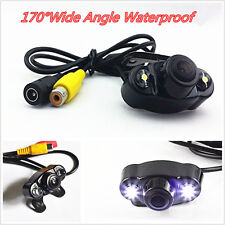 170º HD Wide Angle Car Dual-LED Rear View Reverse Backup Camera Kit Night Vision