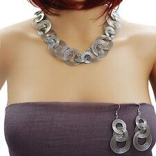 Set de bijoux en acier inox - Collier De Déclaration et Boucles d'oreilles