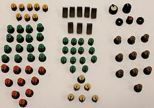 Lot of 77 Vintage Yamaha Mixing Board Control Knobs and Faders