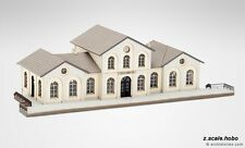 Archistories Z Scale 116131 White Train Station Railway Building Kit *NEW $0SHIP