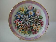 DANBURY MINT BOUQUETS OF THE WORLD THE FLOWERS OF BRAZIL PLATE
