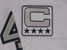 OAKLAND RAIDERS CUSTOM SILVER,BLACK & WHITE COLOR RUSH CAPTAINS JERSEY PATCH NEW