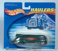 "Hot Wheels Haulers Green 5"" Art Deco Streamlined Surf 'N Fun Beach Cruiser Bus"