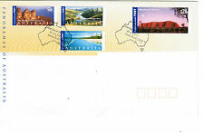 2001 Panoramas of Australia Set Of 4  First Day Cover