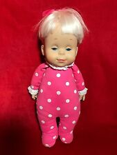 Mattel 1984 Talking Drowsy Baby Doll Says 6 Phrases