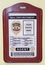 Bail Enforcement Agent ID Badge  CUSTOMIZE WITH YOUR PHOTO & INFO  PVC ID CARD