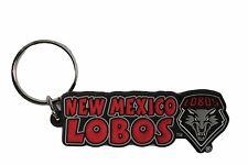 New Mexico Lobos Keychain Raised Rubber Logo Keychain Keyring NCAA New