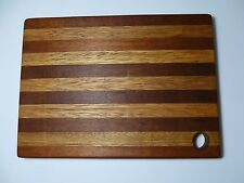 "MAHOGANY & SUGAR MAPLE  CUTTING & CHEESE BOARD ,SIZE 13"" X 9 1/2"" X 1"" for GIFT"