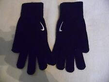 NIKE KNITTED BLACK GLOVES SWOOSH LOGO BRAND NEW.SIZE L/XL+S/M