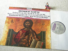 WINDSBACHER KNABENCHOR boys choir SCHÜTZ Psalmen Davids 1983 GER LP BELLAPHON
