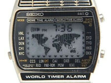 RARE NEW/NOS Vintage DIGITAL watch LCD unit for Seiko A239 world timer (blk map)