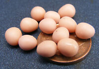 1:12 Scale 1 Dozen Brown Eggs Dolls House Miniature Food - Breakfast Accessory