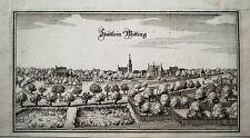 Wittingen Gifhorn Niedersachsen  Merian Kupferstich der Erstausgabe 1654
