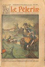 Crue Inondation Moissac & vallée de la Garonne Sauvetage  1930 ILLUSTRATION