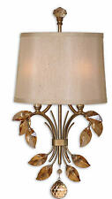 Alenya 2-Light Crystal/Gold Metal Wall Sconce Lighting Fixture -Uttermost 22487