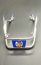 Front mudguard bars in chrome with BLUE trim for Vespa PX & LML Star by Cuppini