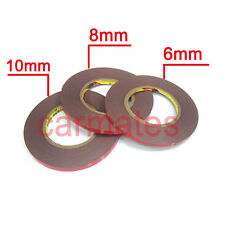 3M Double Face Sided Tapes pack 6mm,8mm, 10mm 10 Meters for Automotive Usage